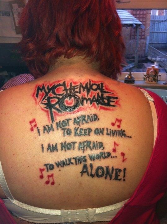 Татуировка My Chemical Romance
